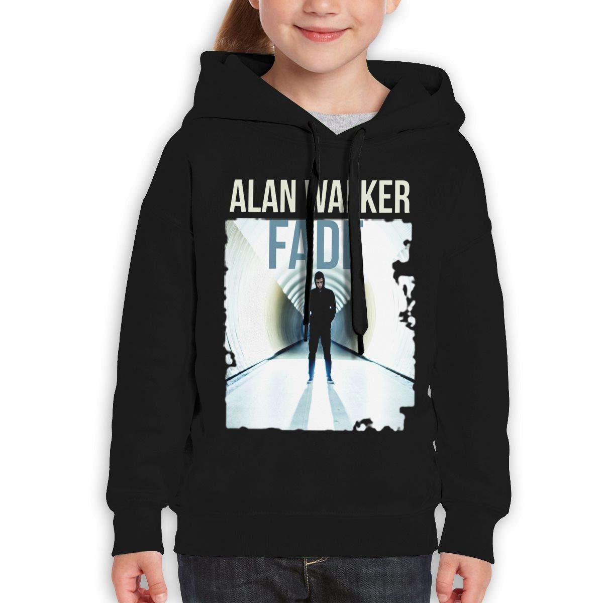 AlbertV Alan Walker Faded Teens Hoodies Hooded Sweatshirt Boys Girls Black