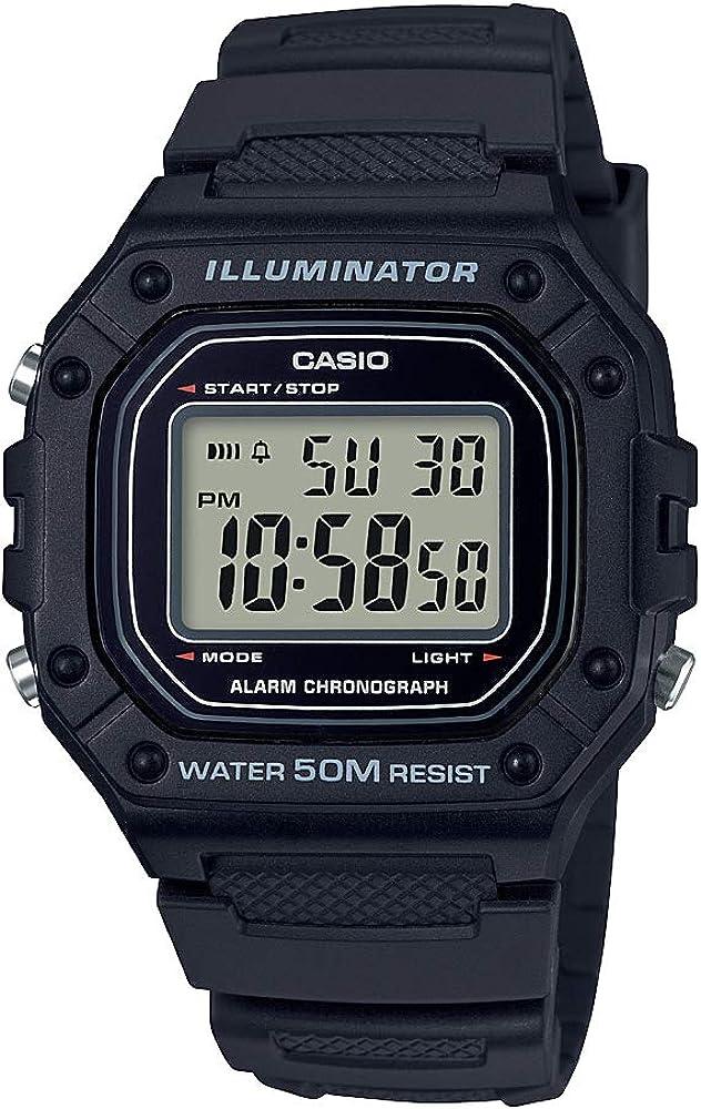 Casio W-218h-1av Reloj Digital para Hombre Colección Youth Caja De ...