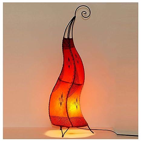 Marrakesch Hissan H80 - Lámpara de pie (piel, pintada a mano ...