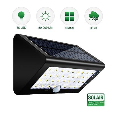 Lampe Solaire USB Rechargeable, SGODDE 35 LED Lumières Extérieures ...