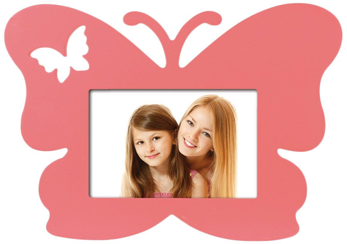 Zep S.r.l PW2846 Design Papillon Cadre Photo Bois Rose 10 x 15 cm