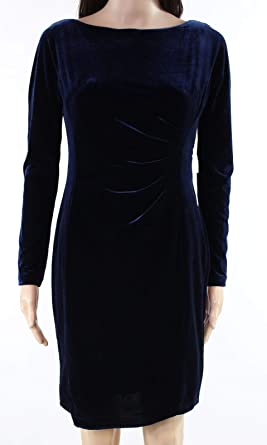 146b4a4867f LAUREN RALPH LAUREN Womens Petites Velvet Mini Special Occasion Dress at Amazon  Women s Clothing store