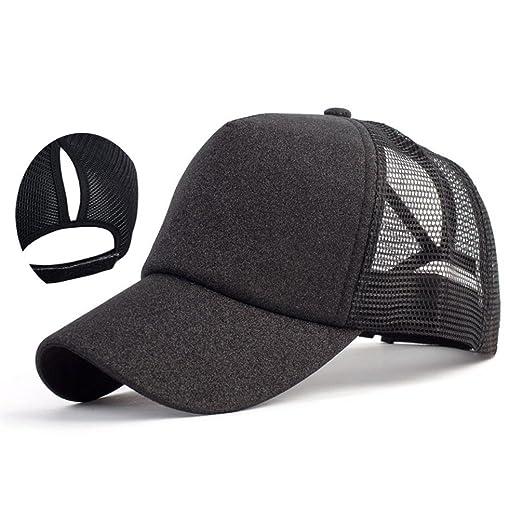 Glitter Baseball Cap - Mesh Trucker Hat - Ponytail Messy Bun Ponycap Women  Girl Sun Protection f26b3f782a3b