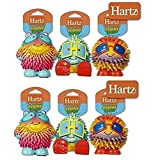 Hartz Frisky Frolic Latex Squeakable Dog Toy assorted characters (Set of 6)