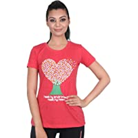 Vector X VTCF-001-B Women's Round Neck T-Shirt (Red)