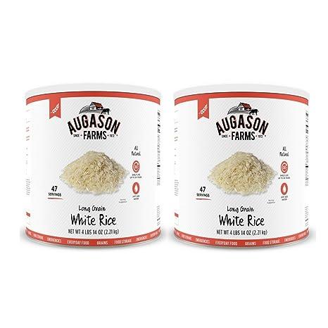 Amazon.com : Augason Farms Long Grain White Rice 4 lbs 14 oz No. 10 ...