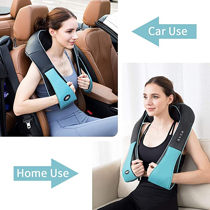 Amazon.com: Shiatsu Back Shoulder and Neck Massager with Heat Deep Tissue  3D Kneading Massager for Relieving Muscle Pain Gift for Men / Women / Mom /  Dad-- Blue: Health & Personal Care