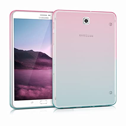 online retailer 5037b a7d55 kwmobile TPU Silicone Case for Samsung Galaxy Tab S2 8.0 - Soft Flexible  Shock Absorbent Protective Cover - Dark Pink/Blue/Transparent