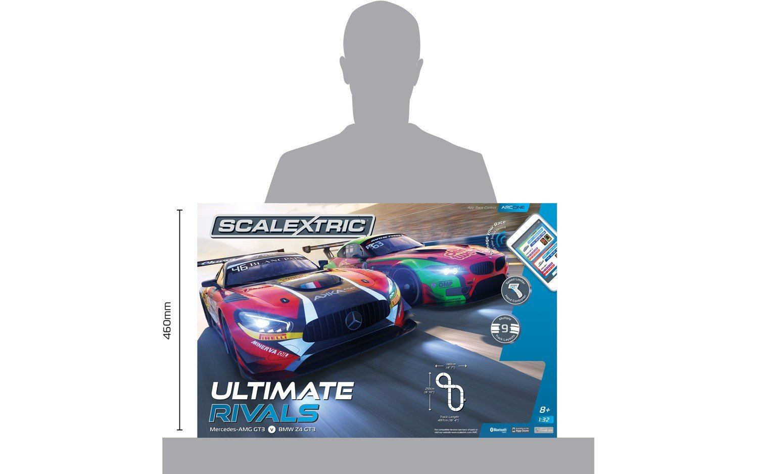 Scalextric C1356T ARC ONE Ultimate Rivals Slot Car Set by Scalextric (Image #6)