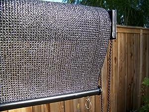 petrau0027s 4 x 6 ft roll up solar sun screen window shadeblind w uv protection 4 foot wide x 6 foot long black