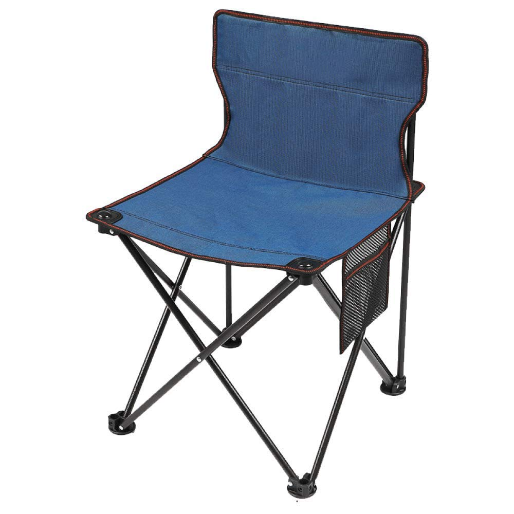 Ultralight Outdoor Camp Folding Chair Aluminum Portable Breathable Chairs with Carry Bag for Festival, Beach, Hiking-RoyalBlue-A by BSDBDF
