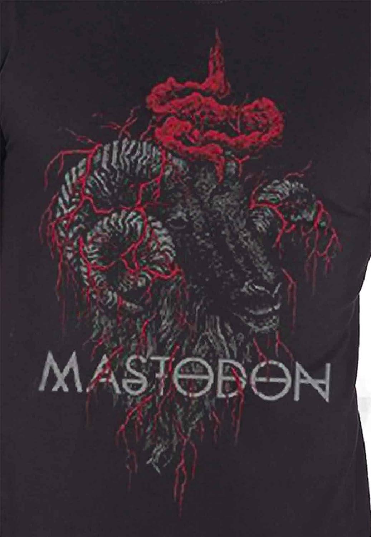 Mastodon T Shirt Rams Head Band Logo Colour Official Mens New Black