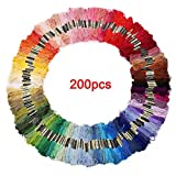 Embroidery thread-SODIAL(R) 200 skeins of multicolored yarn for cross stitch embroidery Crocheting