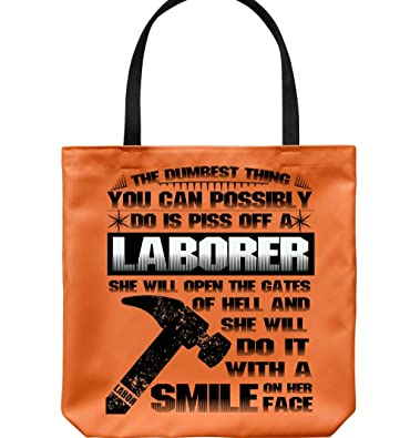 Amazon.com: Una sonrisa en su cara bolsa de lona, Piss Off a ...