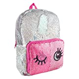 Style.Labs 77094 Sequin Backpack, Silver