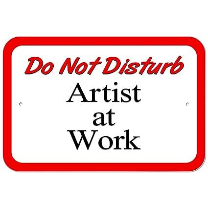 Plástico Señal no molestar artista en el trabajo, plástico ...