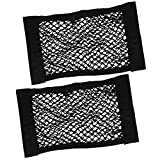 BeiLan Car Seat Back Storage Elastic Mesh Net Storage Holder Pocket Sticker Organizer Strong Magic Tape Accessories(2 Pack)