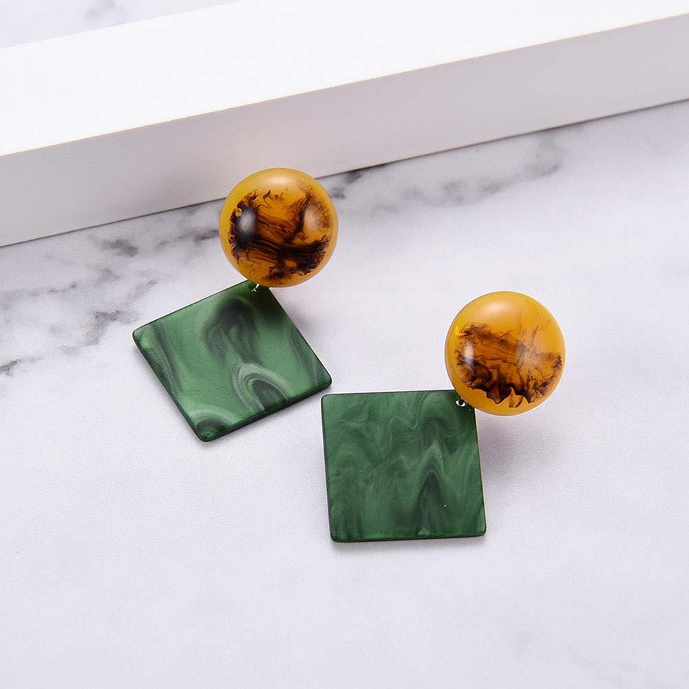 Stud Earrings for Women Foviza Boho Jewelry Acrylic Geometric Earring for Lady Girl Gift