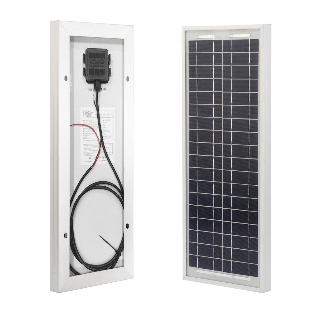 HQST 10 Watt 12Volt Off Grid Polycrystalline Portable Solar Panel for RV Marine Boat by HQST (Image #1)