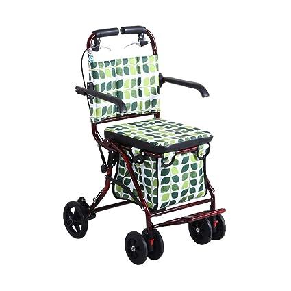 Carritos de la compra Carro de arranque plegable Carro de compras para el hogar para ancianos