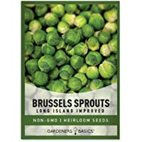 Brussels Sprouts Seeds for Planting - Long Island Improved Heirloom, Non-GMO Vegetable Variety- 800 mg Approx 225 Seeds…