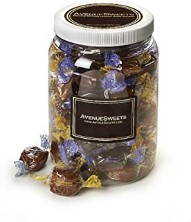 product image for AvenueSweets - Handcrafted Individually Wrapped Soft Caramels - 1/2 Gallon Jar - Customize Your Flavors