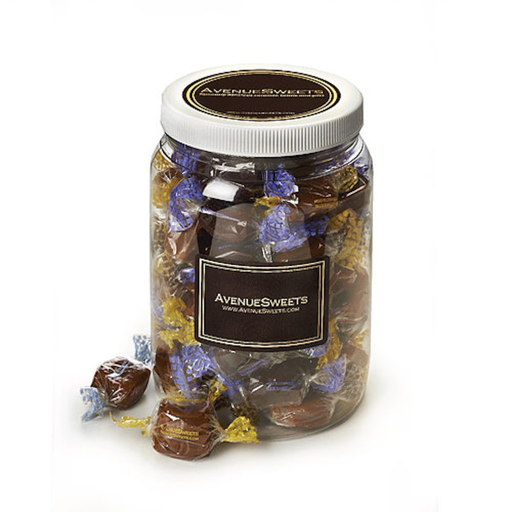 AvenueSweets - Handcrafted Individually Wrapped Soft Caramels - 1/2 Gallon Jar - Customize Your Flavors by AvenueSweets