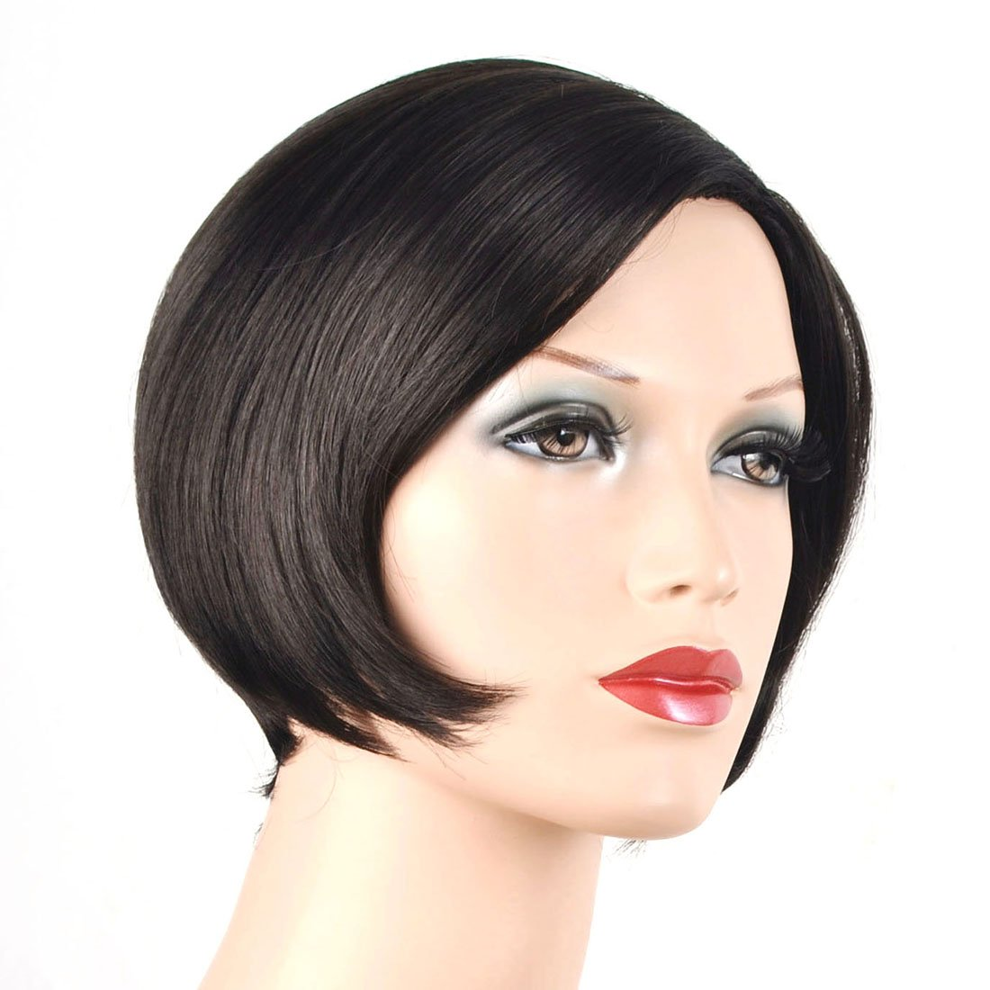 Coolsky Wig OL Short Black Woman Hair For Party or Daily Life Cosplay by COOLSKY (Image #4)
