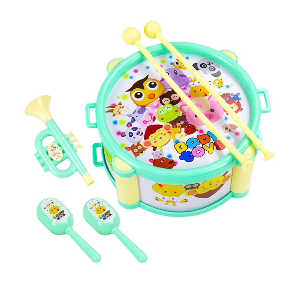 Toyvian Creative Musical Instruments Beat Drums Toy Set for Kids and Toddler 6pcs by Toyvian