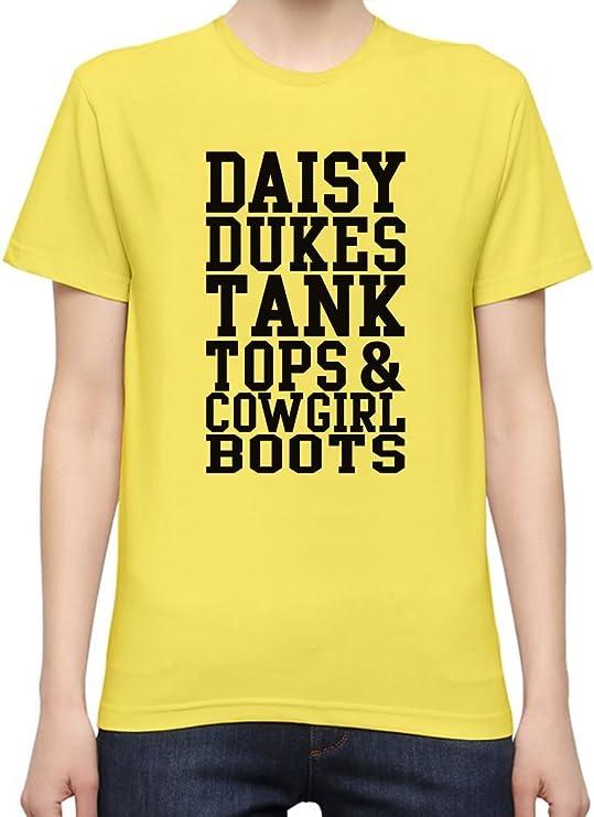 Daisy Dukes Tank Tops & Cowgirl Boots Slogan Camiseta Mujeres XX-Large: Amazon.es: Ropa y accesorios