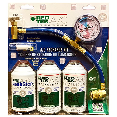 REDTEK A/C Refrigerant Recharge Kit with Gauge