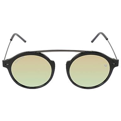 63b1461dec7e MARC JONES GREEN MERCURY MIRRORED (UV 400 PROTECTION) STYLISH UNISEX ROUND  SUNGLASS ULTIMATE SHINE FINISH  Amazon.in  Clothing   Accessories