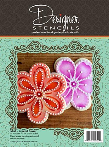 Six Petal Flower Cookie Cutter and Stencil Set by Designer Stencils ()
