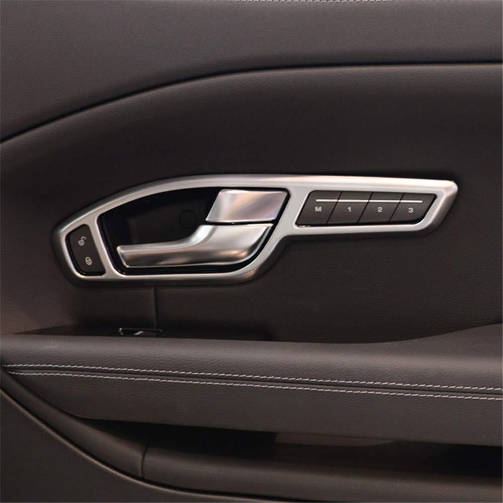OIOBOMBG 4Pcs Argent ABS Chrome Int/érieur Pi/èces Poign/ée De Porte Garniture Cadre Accessoires De Voiture pour Land Rover Range Rover Evoque 2012-2017