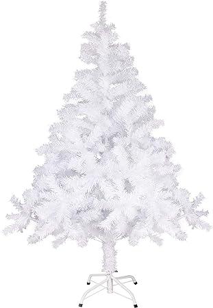 Minterest Arbol de Navidad Blanco, 150cm Árbol de Navidad Blanco con 320 Ramas Soporte Arbol Navidad Arbol de Navidad Blanco Grande