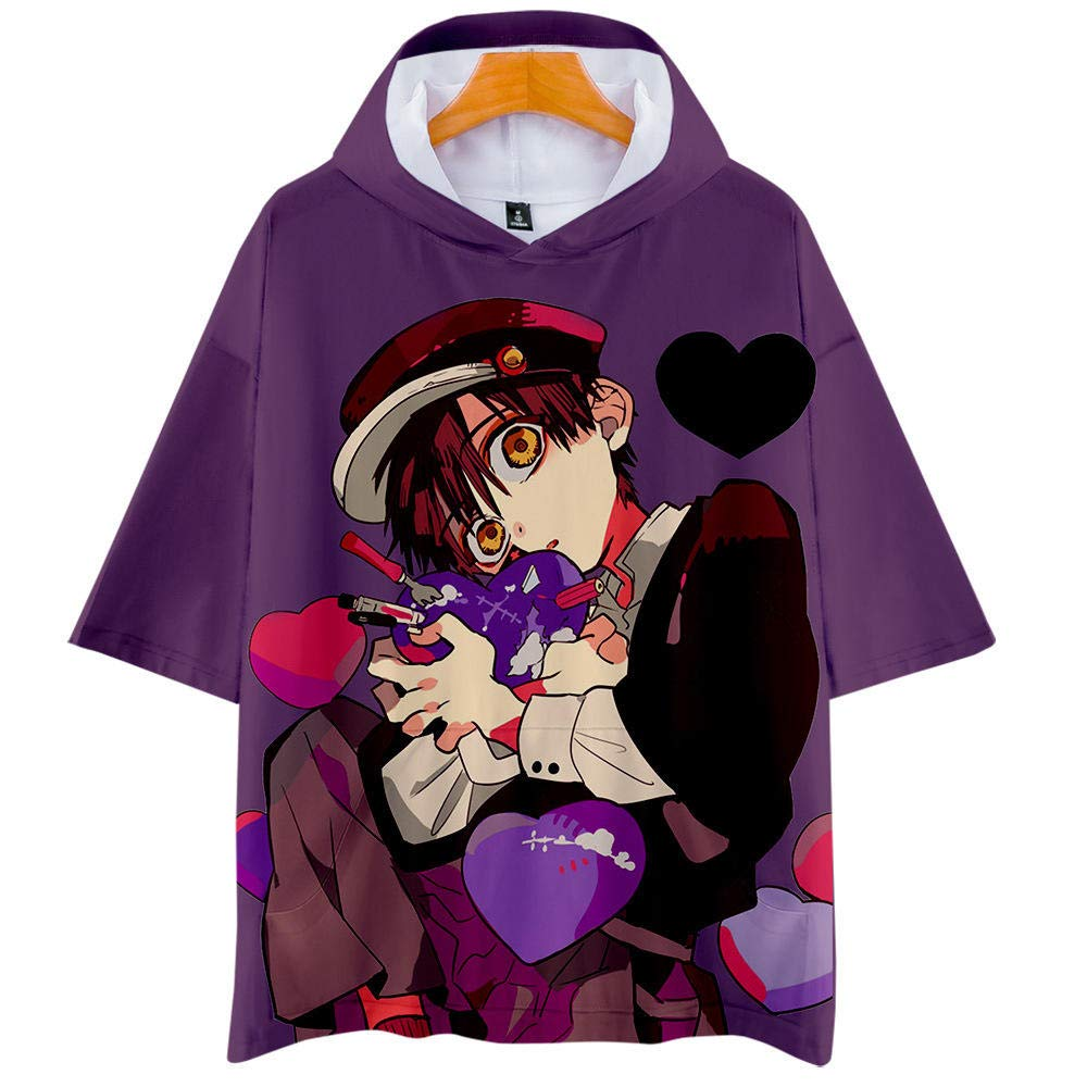 hengGuKeJiYo T-Shirt Anime Felpe con Cappuccio Toilet-Bound Hanako-Kun Jibaku Shounen Legato Hanako-Kun Cosplay T-Shirt Costume Tee Top Unisex Top Hanako Kun T Shirt