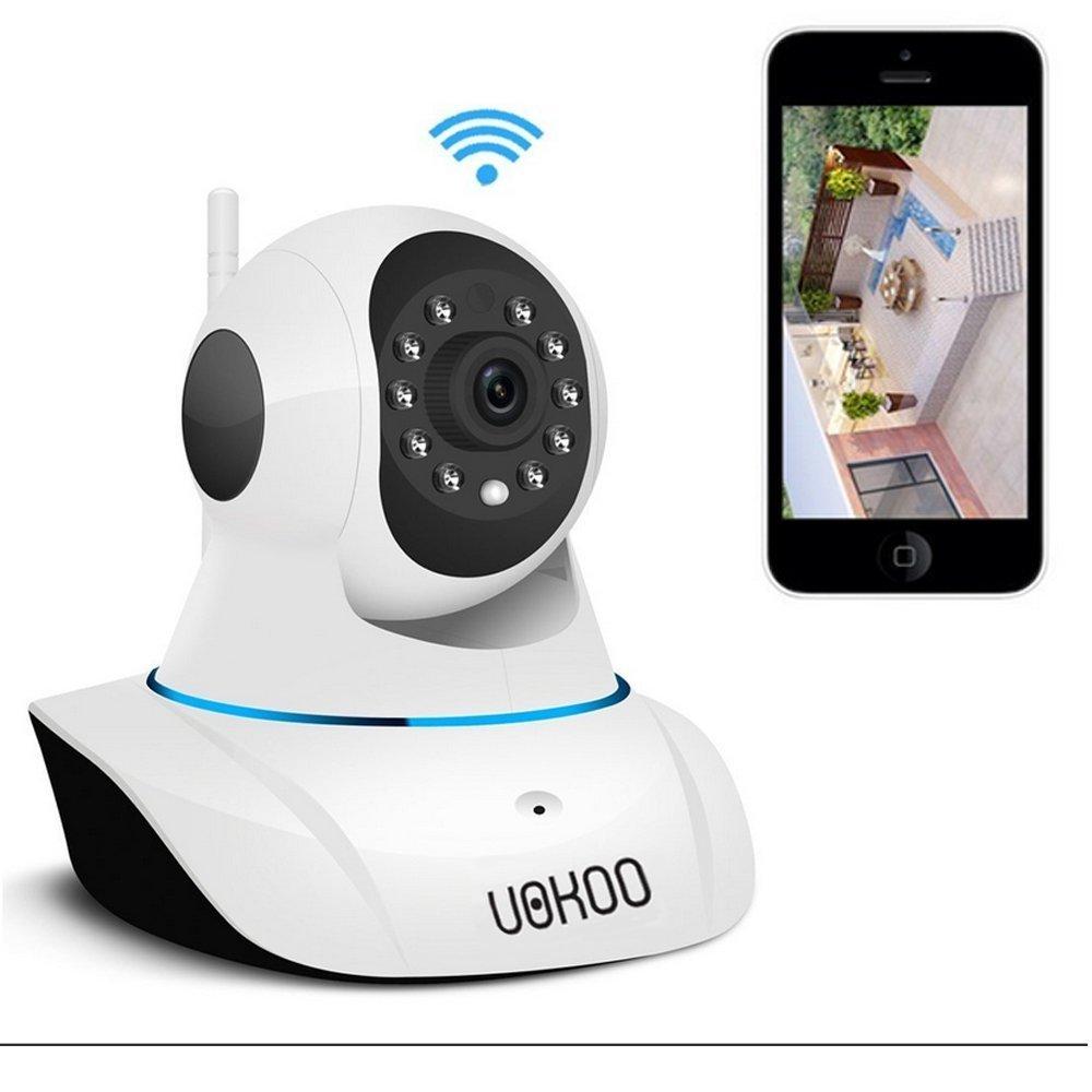IPカメラ、Sokos HD 720pワイヤレスWiFiセキュリティカメラナイトビジョン監視カメラマイクでBulit with 2ウェイオーディオp2p Onvif IP Webカメラ B01ABTJ71C