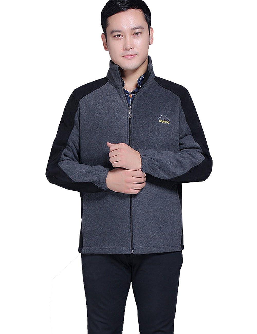 Zoulee Mens New Sportswear Polar Fleece Zipper Cardigan Coat Jacket