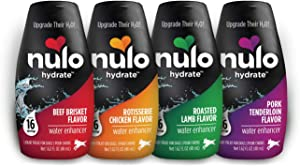 Nulo Hydrate for Dogs Water Flavoring - Tasty Dog Water Enhancer with Electrolytes, Amino Acids, B-Vitamins - Premium Water Supplement for Dogs