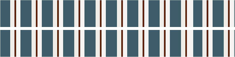Papier Borte Tapetenbord/üre Bord/üren Borde Wandborde braun blau Muster M0046 wandmotiv24 Bord/üre Vintage Style 260cm Breite
