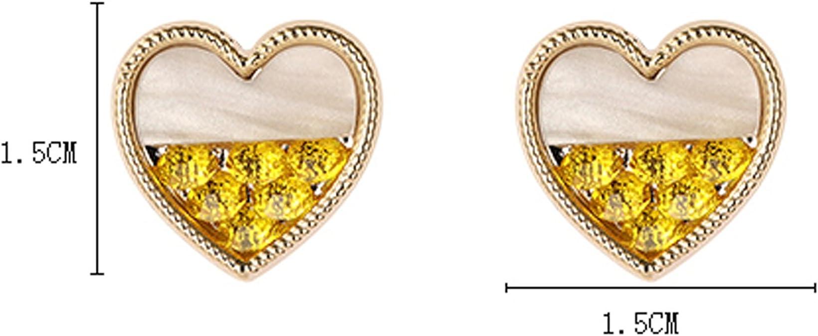 Bishilin 18K Gold Plated Women Stud Earrings Round Cubic Zirconia Rose Gold Mermaid 4.61.1cm