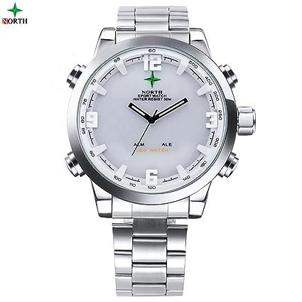 Reloj de Pulsera Reloj de Cuarzo Analógico LED de 5 Tipos Reloj Digital Deportivo para Regalo