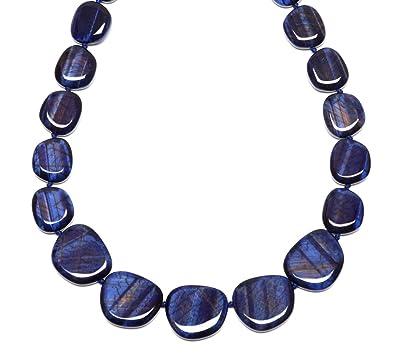 Lola Rose Women Blue Coral Quartz Strand Necklace of Length 30cm 695411 xH356yy
