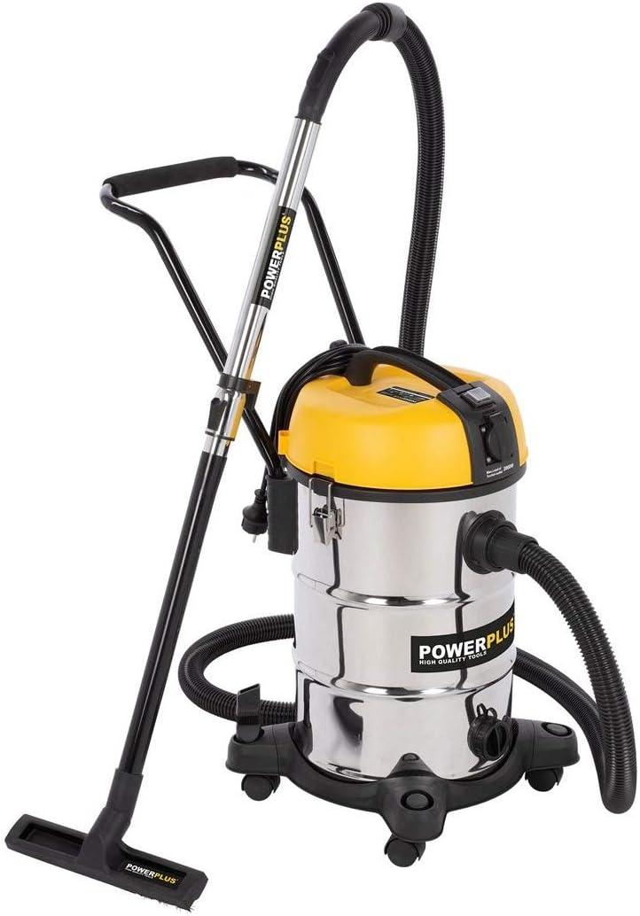 POWER plus POWX3240 - Aspiradora industrial (1200 W, 30 L, 240 V ...