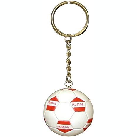 Futbol de fútbol balón de fútbol Austria llavero llaveros: Amazon ...