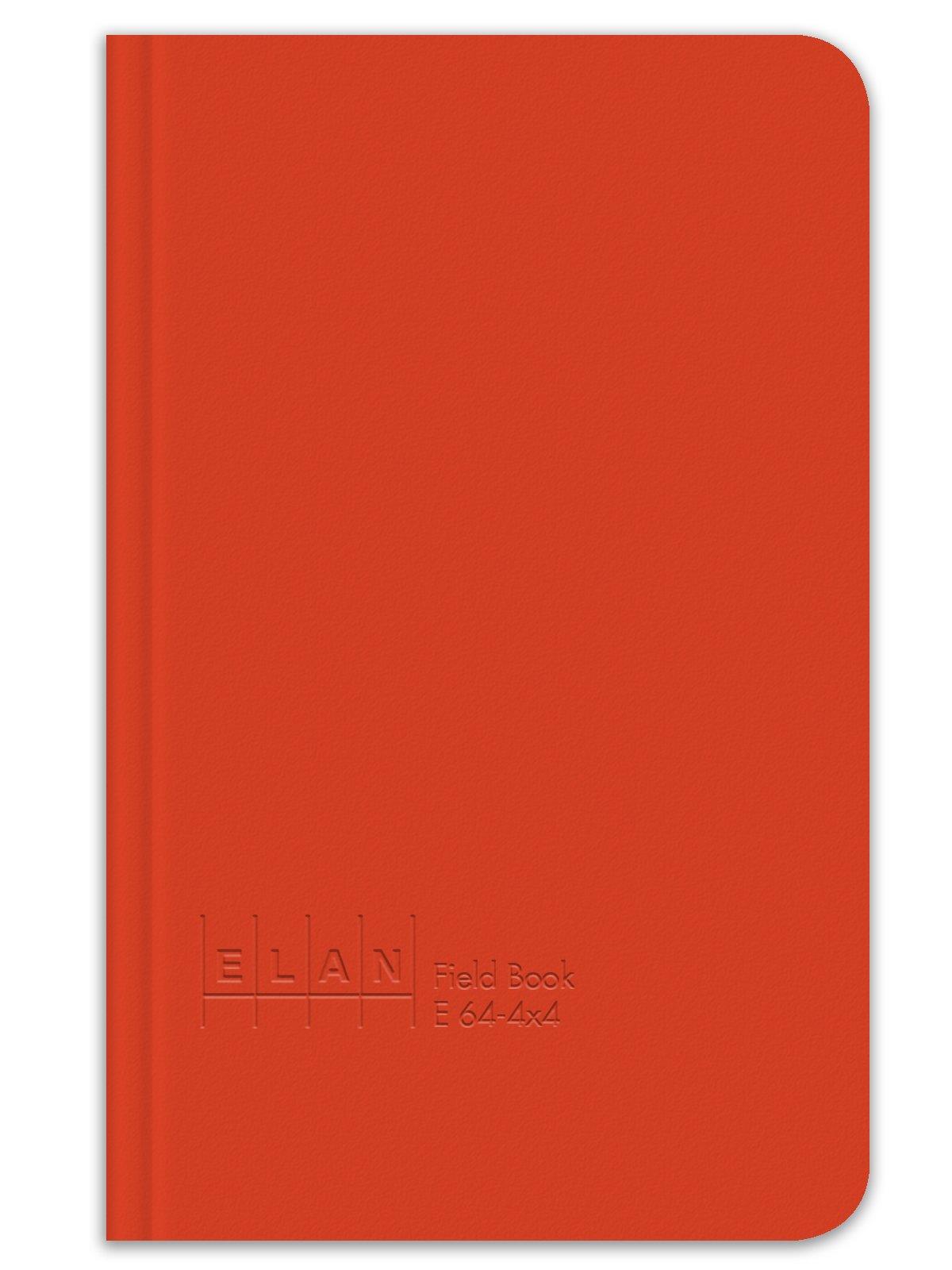 Elan Publishing Company E64-4x4 Field Surveying Book 4 ⅝ x 7 ¼, Bright Orange Cover (Pack of 6) by Elan Publishing Company