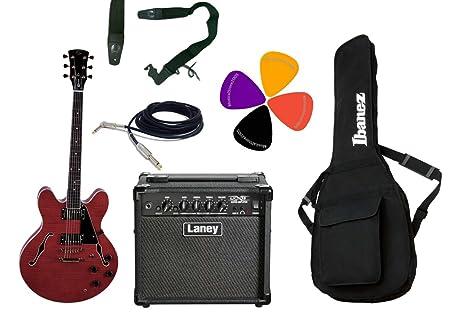 Guitarra eléctrica Semiacústica Double Cut/Laney Combo 15 W y ...