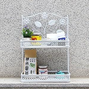 iron bathroom rack/Bathroom multifunctional rack/vanity storage rack/Living room kitchen wall mount on the wall-A well-wreapped
