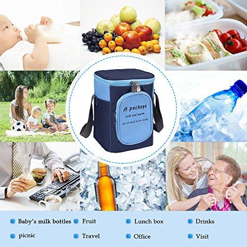 Travel Portable Baby Bottle Warmer Kids Feeding Milk Storage Holder Carrier Bag Insulator Carrier Cooler Could Be Attached to Stroller (blue)