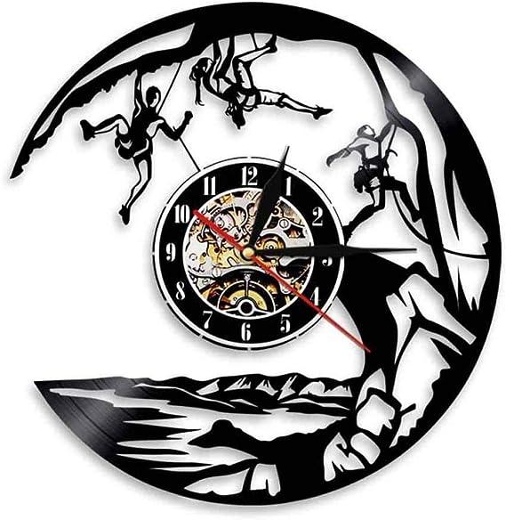TPFEI Reloj de pared, decoración de escalada en roca para ...